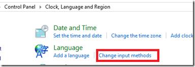 Change input method
